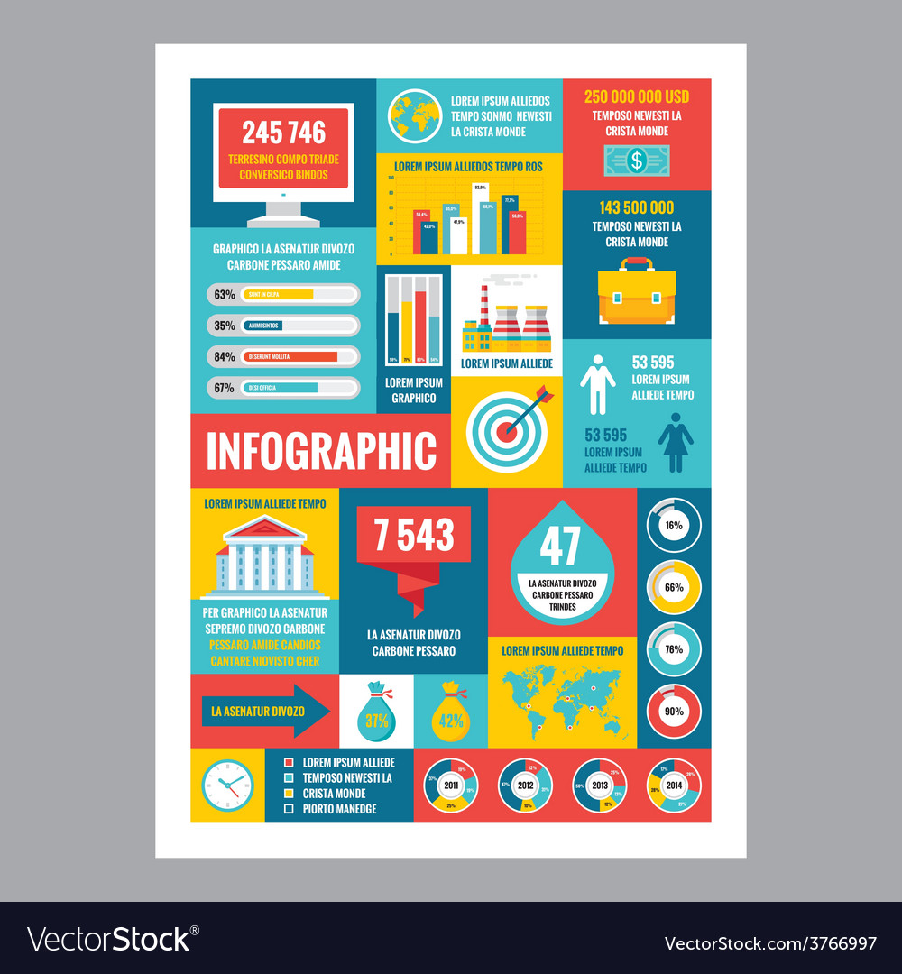 Business infographic - poster in flat design style vector | Price: 1 Credit (USD $1)