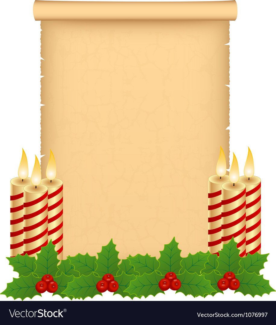 Christmas parchment vector | Price: 1 Credit (USD $1)