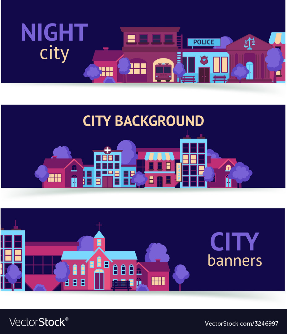 City banner horizontal vector | Price: 1 Credit (USD $1)