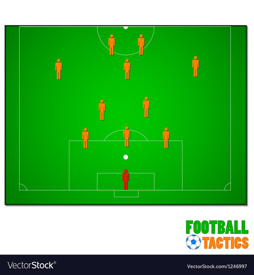 Football tactics vector | Price: 1 Credit (USD $1)