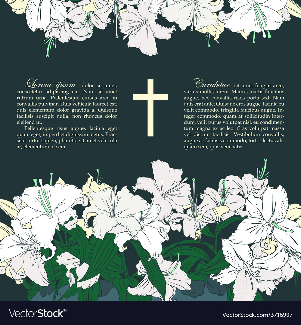 Funeral card vector | Price: 1 Credit (USD $1)