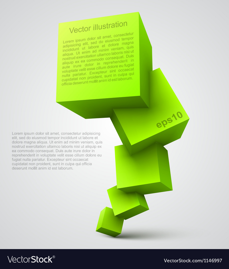 Green cubes 3d vector | Price: 1 Credit (USD $1)