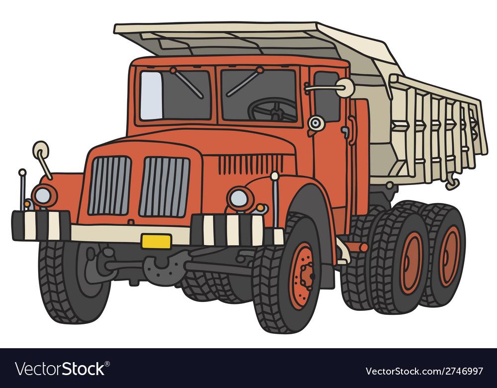 Old dumper truck vector | Price: 1 Credit (USD $1)