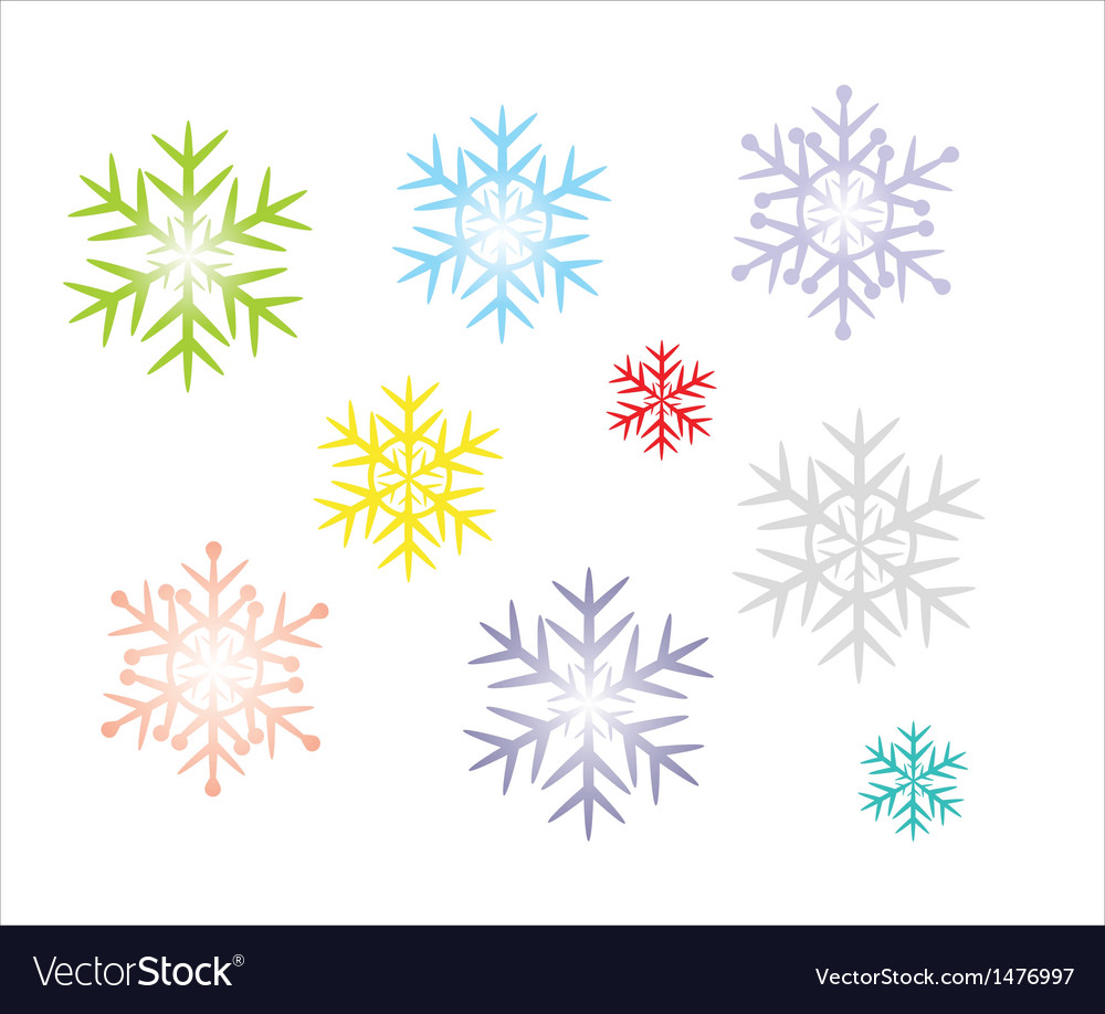 Snowflake icons vector | Price: 1 Credit (USD $1)