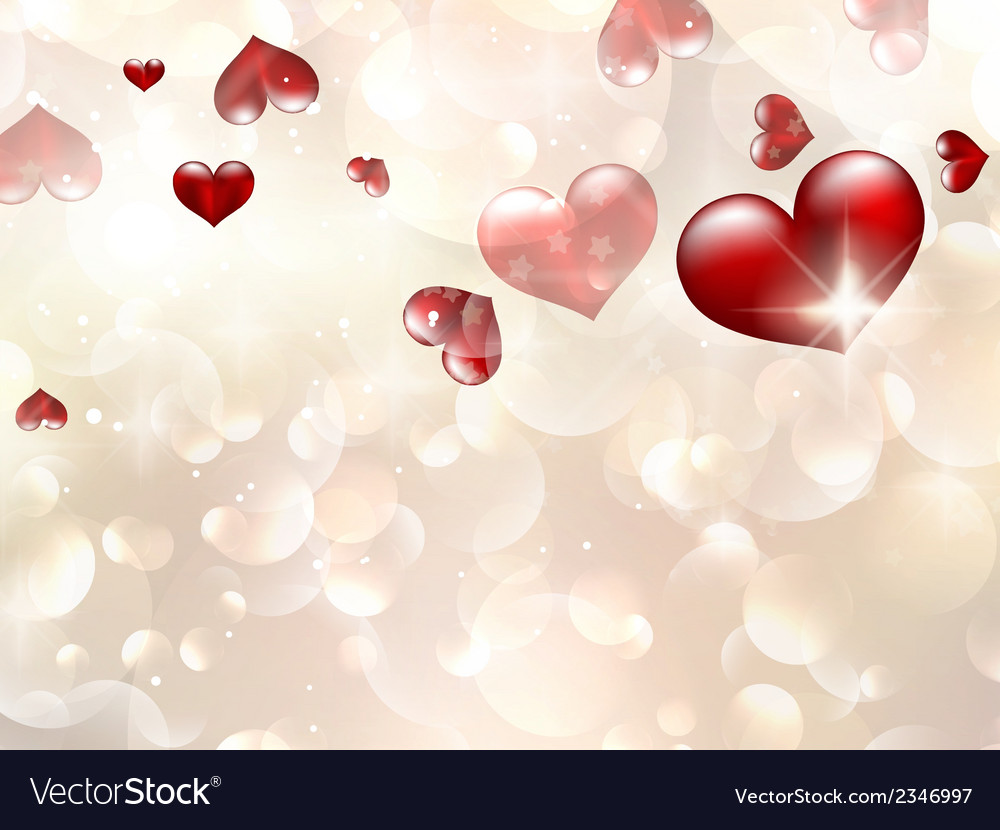 Valentins day card with red hearts eps 10 vector | Price: 1 Credit (USD $1)