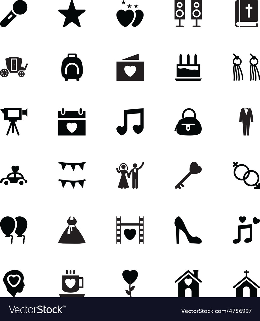 Wedding icons 3 vector | Price: 1 Credit (USD $1)