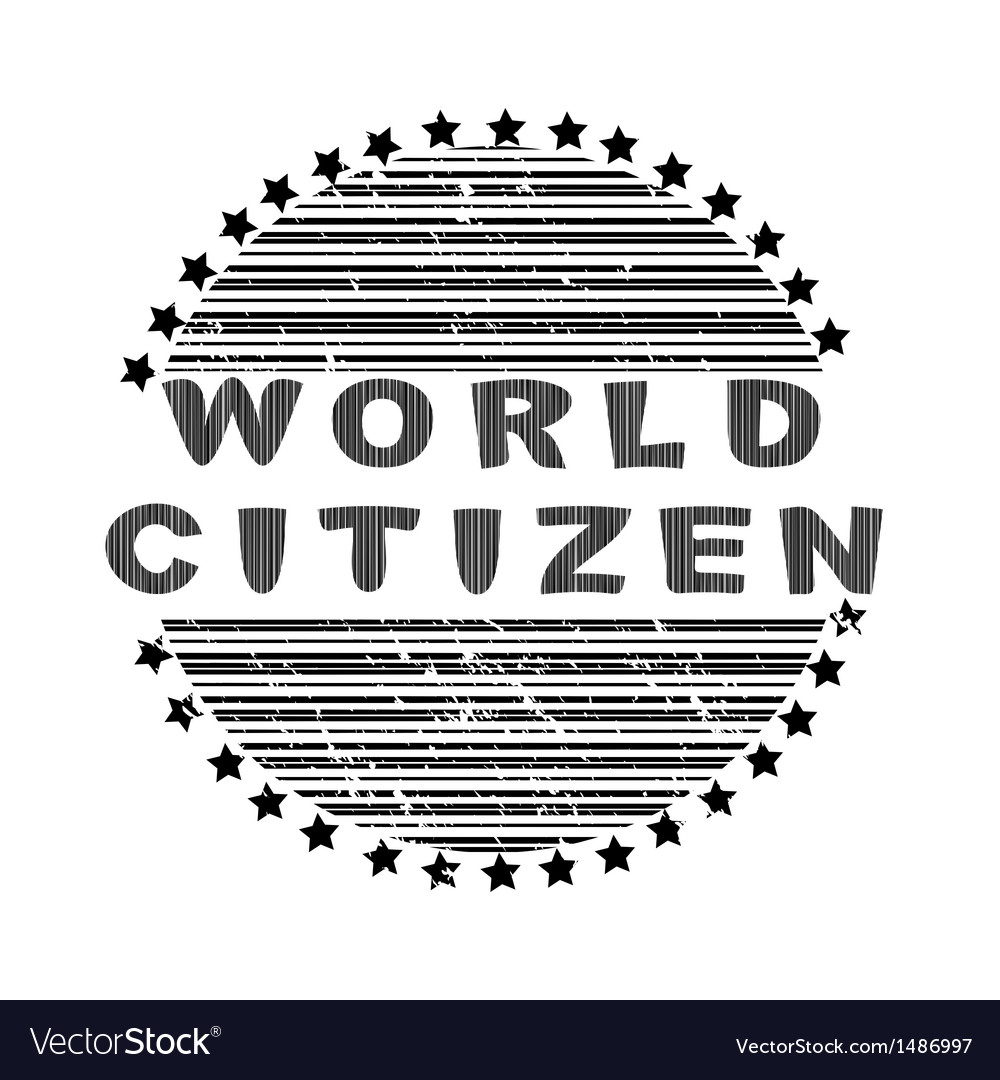 World citizen vector | Price: 1 Credit (USD $1)