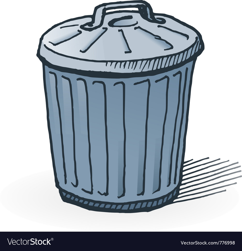 American trash can vector | Price: 1 Credit (USD $1)
