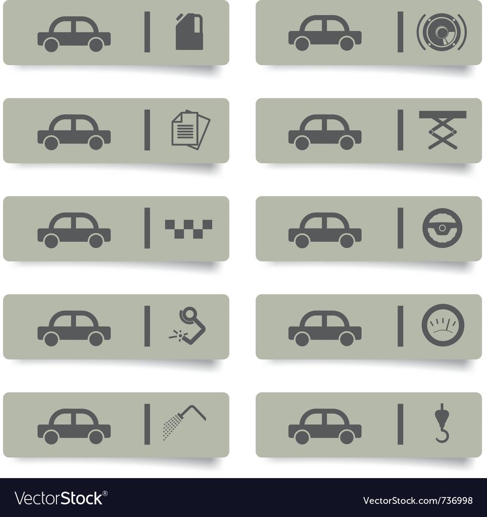 Auto service stickers vector | Price: 1 Credit (USD $1)