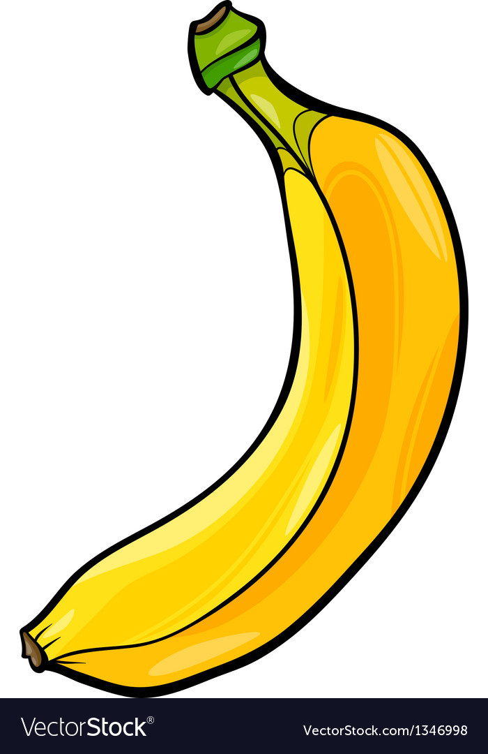 Banana fruit cartoon vector | Price: 1 Credit (USD $1)