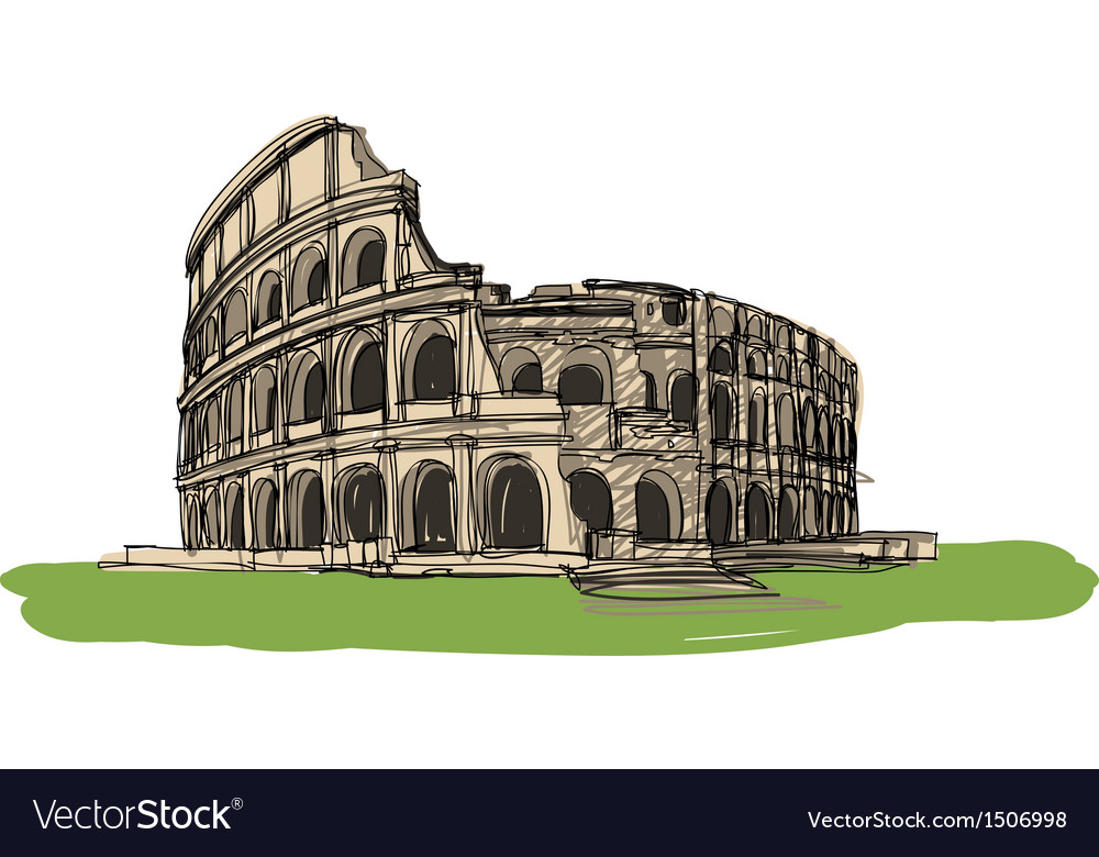 Colosseum rome italy vector | Price: 3 Credit (USD $3)