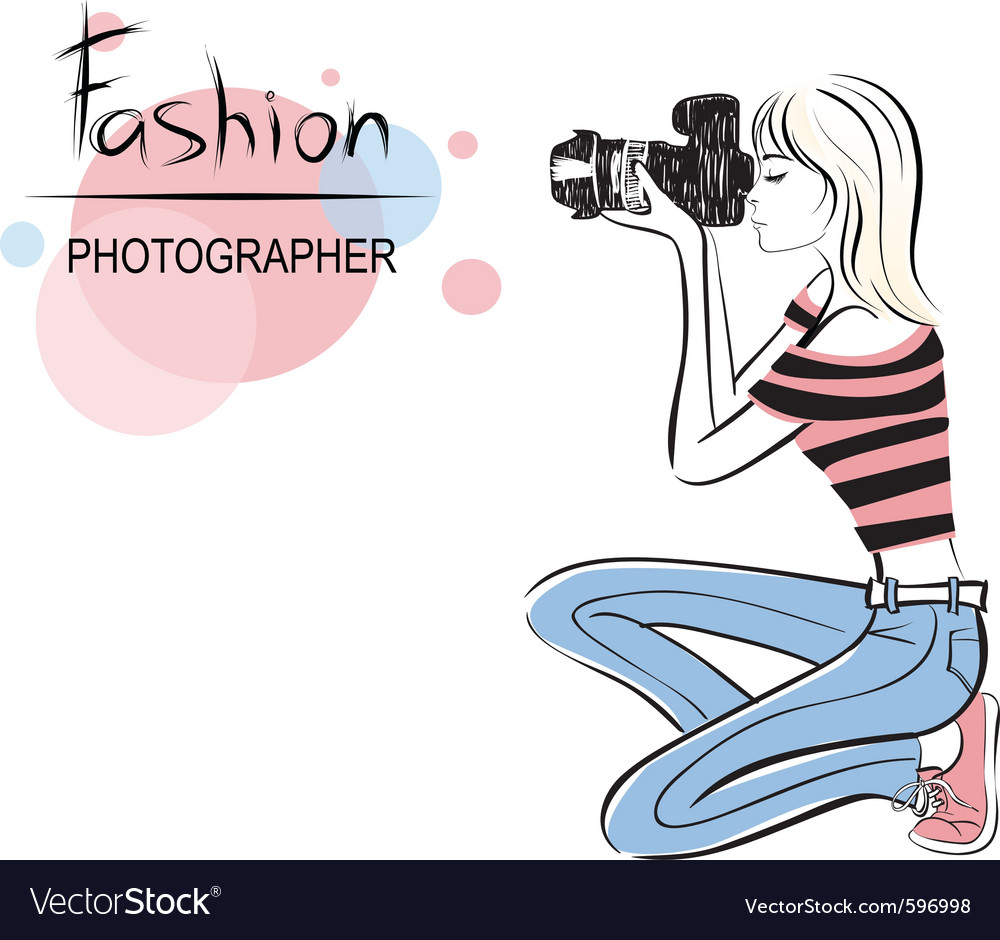 Fashion photographer vector | Price: 1 Credit (USD $1)