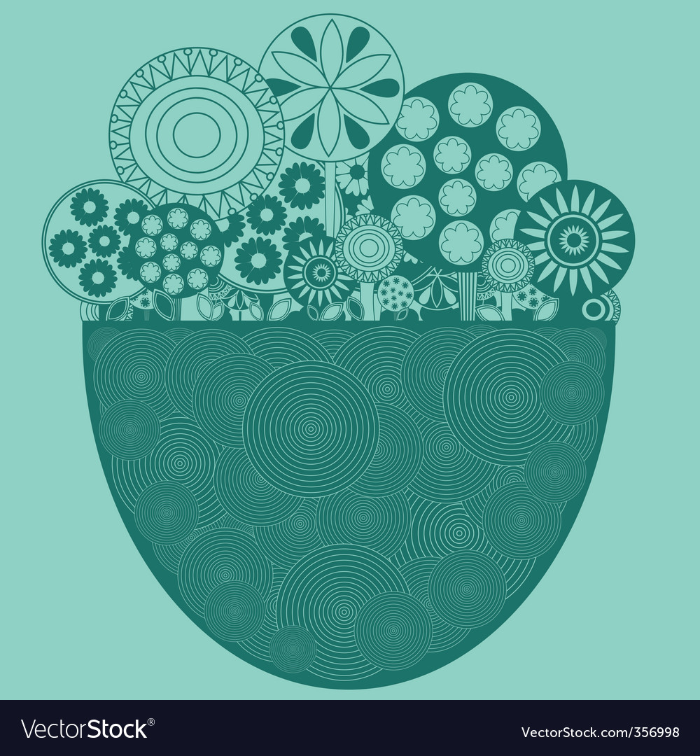 Funky floral background vector | Price: 1 Credit (USD $1)