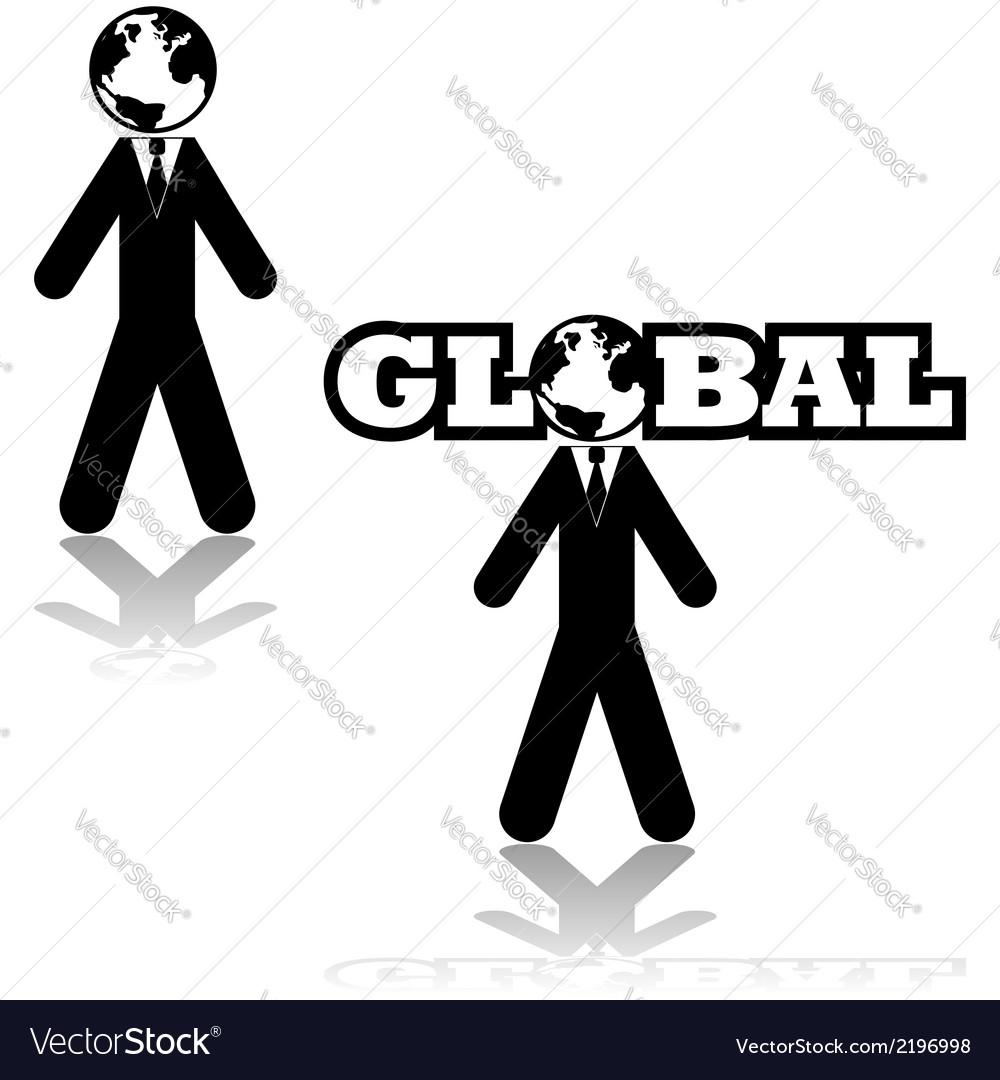 Global businessman vector | Price: 1 Credit (USD $1)