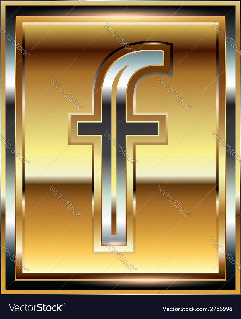 Ingot font letter f vector | Price: 1 Credit (USD $1)