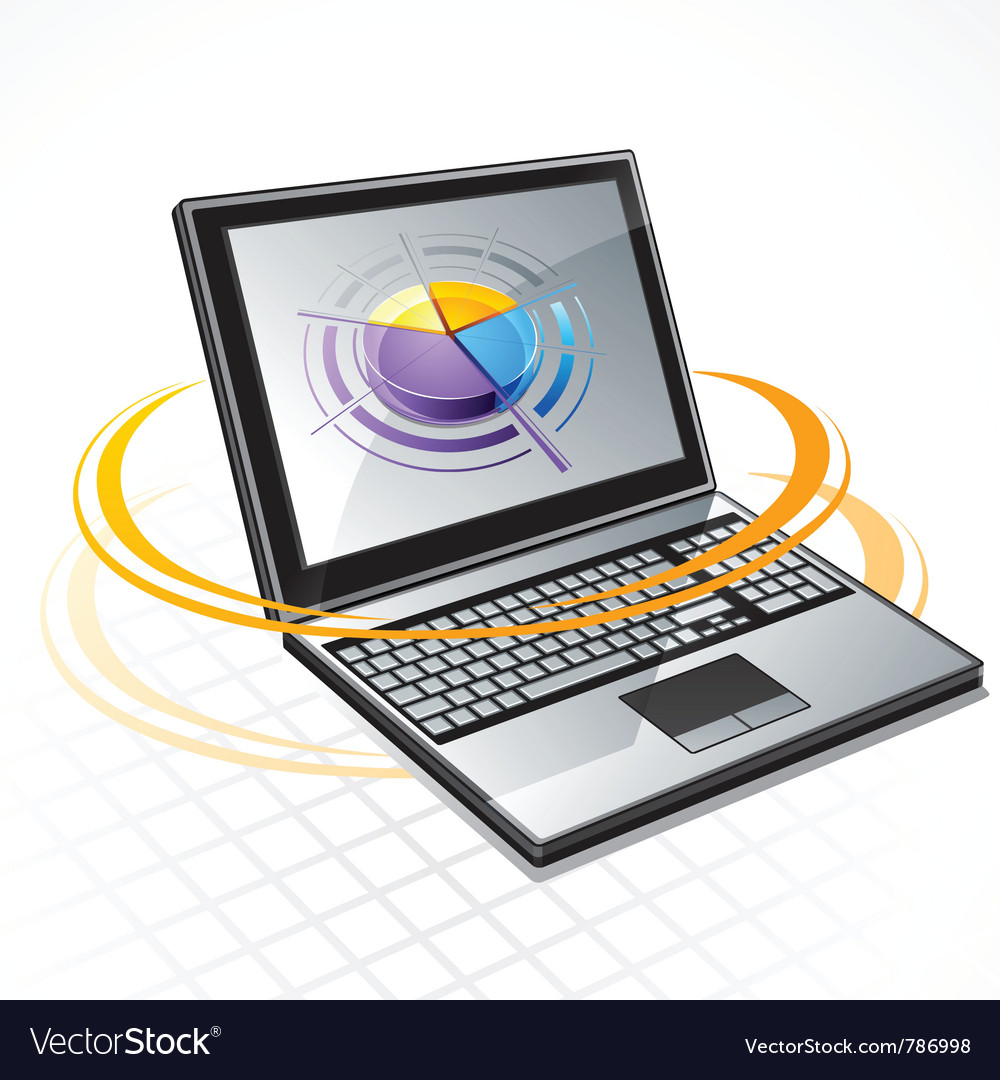 Laptop computer vector | Price: 3 Credit (USD $3)