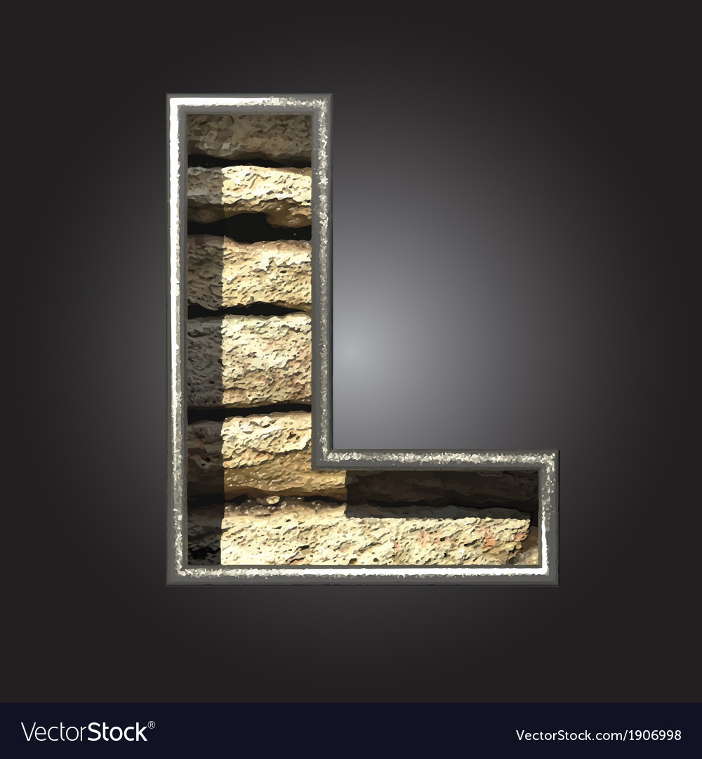 Old stone letter l vector | Price: 1 Credit (USD $1)