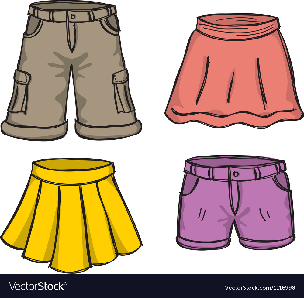 Pants and skirts vector | Price: 1 Credit (USD $1)