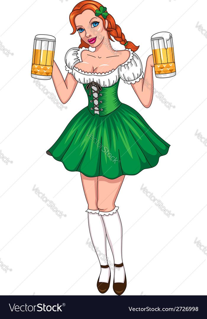 Patrick girl beer vector | Price: 1 Credit (USD $1)