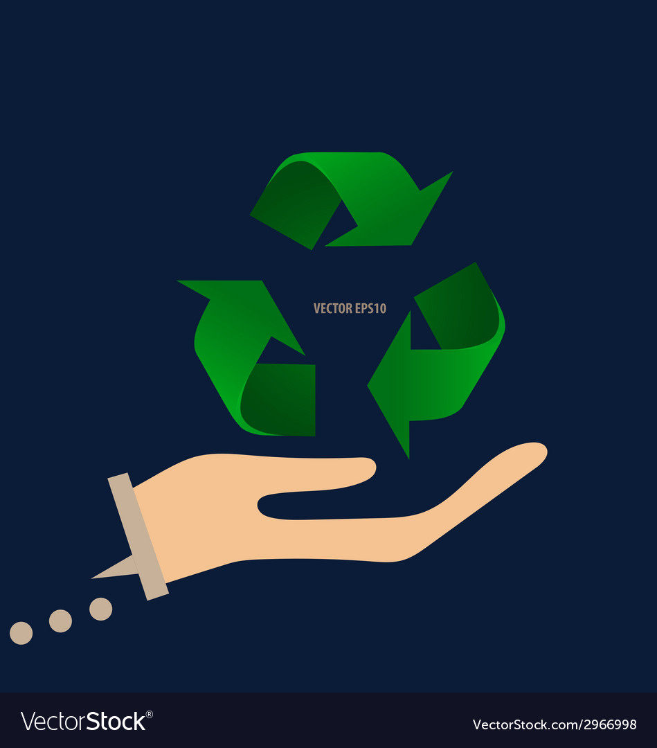 Recycle symbol symbol on the packaging vector | Price: 1 Credit (USD $1)