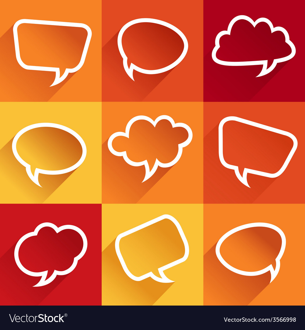 Set of flat speech bubbles vector | Price: 1 Credit (USD $1)
