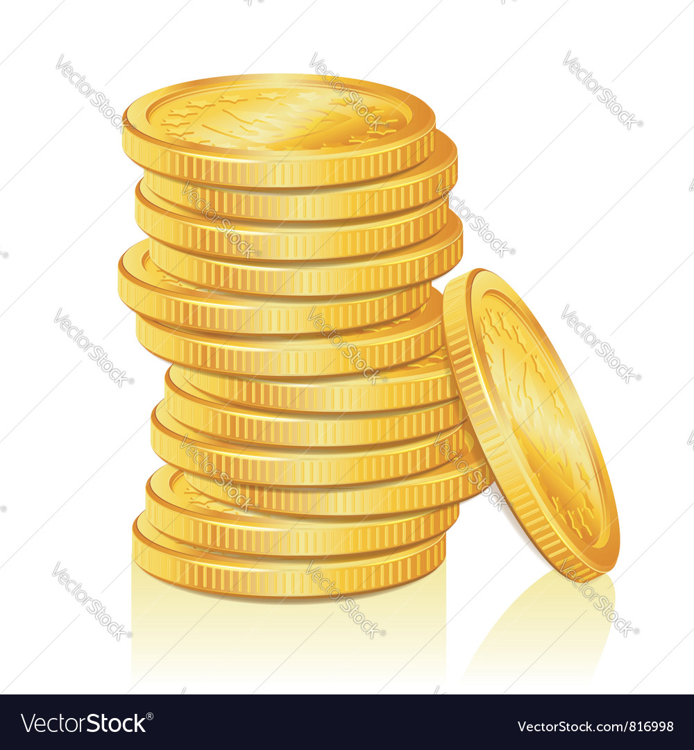 Stack of gold coins vector | Price: 1 Credit (USD $1)