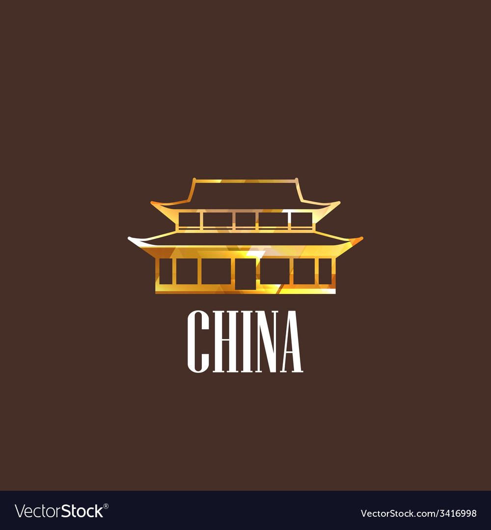 With chinese building icon vector | Price: 1 Credit (USD $1)
