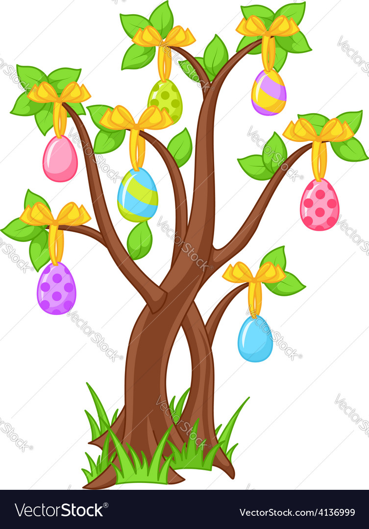 Easter tree vector | Price: 3 Credit (USD $3)