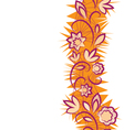 Seamless floral pattern vertical border vector