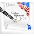 American blank and pen vector