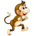 A monkey running vector