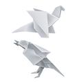 Origami dragon bird vector