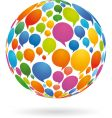 Speech bubbles on globe vector