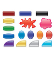 color buttons with different forms vector