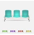 Colored waiting benches vector