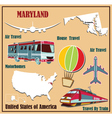 Flat map of maryland vector
