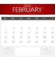 Simple 2015 calendar february vector