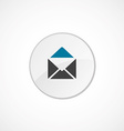 Mail icon 2 colored vector