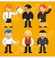 Different businessmen characters vector