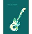 Emerald flowerals guitar music silhouette vector