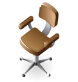 Isometric icon of chair vector