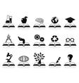 Books concept icons set vector
