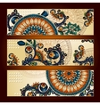 Unique abstract ethnic pattern card set vector