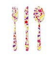 Cutlery with pattern vector