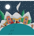 New year and christmas landscape at night in style vector