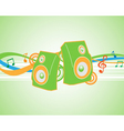 illustration musical theme with speakers vector