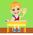 Happy smiling schoolboy vector