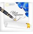 Euro blank and pen vector