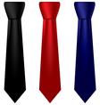Multicolored silk ties set vector
