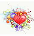 Colorful love hearts vector